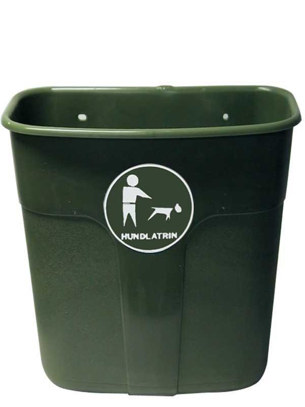 Affaldskurv, 60 liter, avocado med hund.