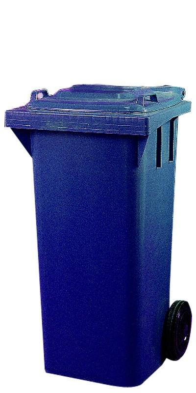 Industribeholder, 120 liter, blå