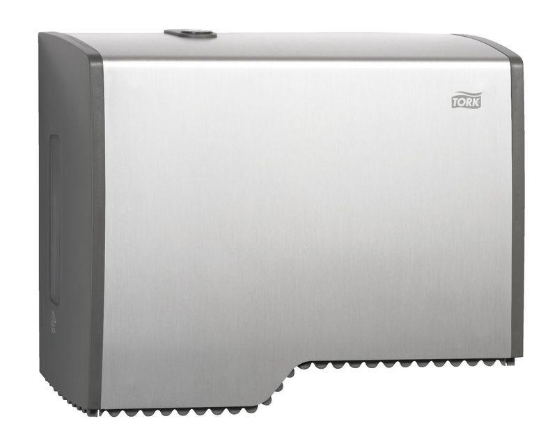Dispenser, aluminium til store ruller toiletpapir