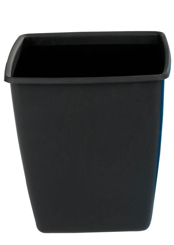Firkantet papirkurv, sort, 18 l