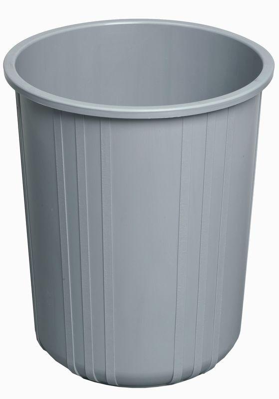 Rund papirkurv, grå, 11 liter