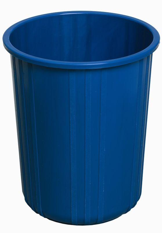 Rund papirkurv, blå, 11 liter