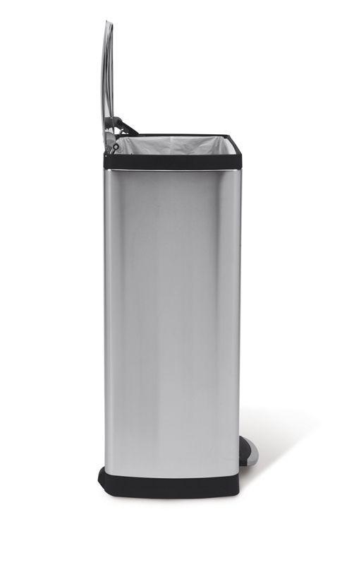 Rektangulær pedalspand, 38 l