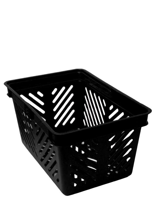 Indkøbskurv, 27 liter, sort