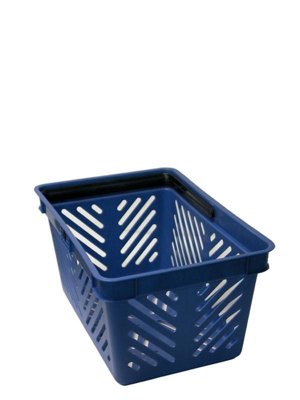 Indkøbskurv, 19 liter, blå