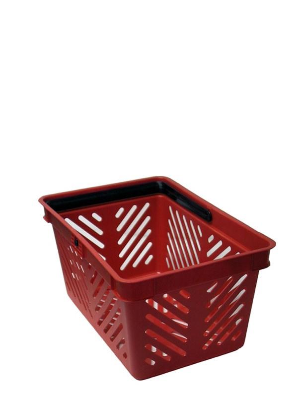 Indkøbskurv, 19 liter, rød