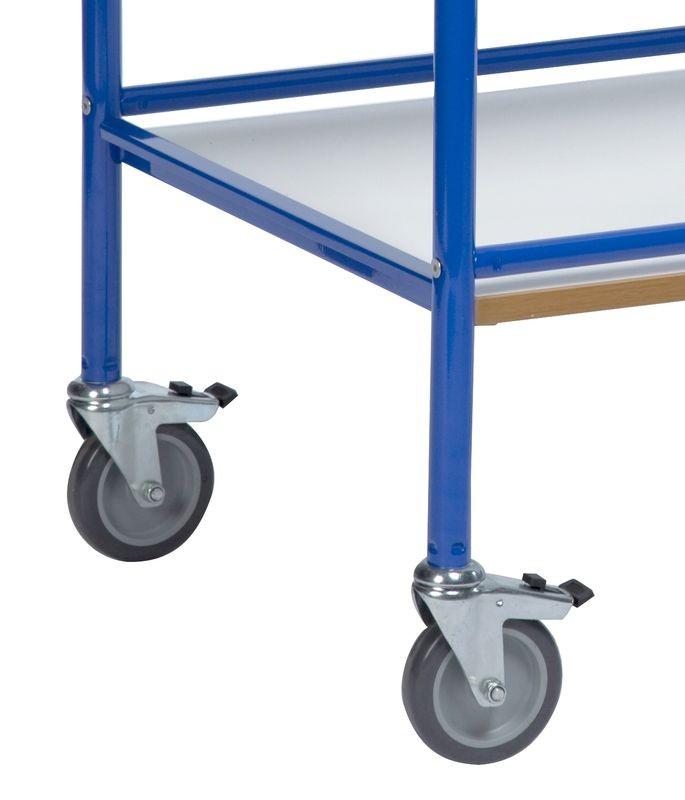 Hjul med bremser til hyldevogne (2.stk. pakning)