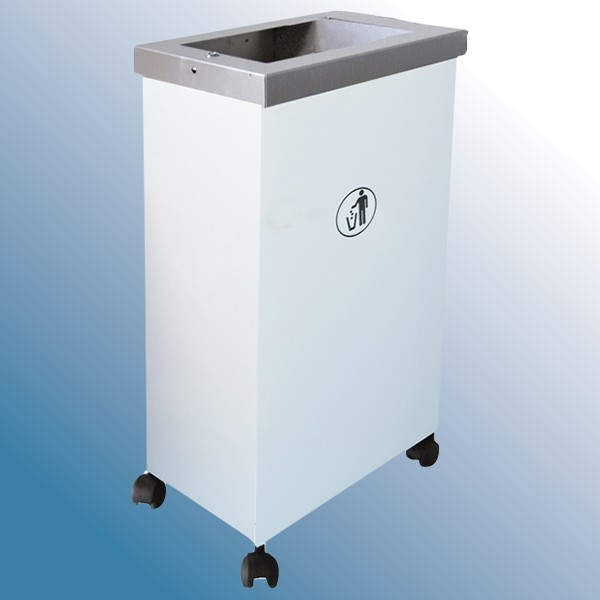 Affaldsbeholder model hvid MORMOR med pynteramme.