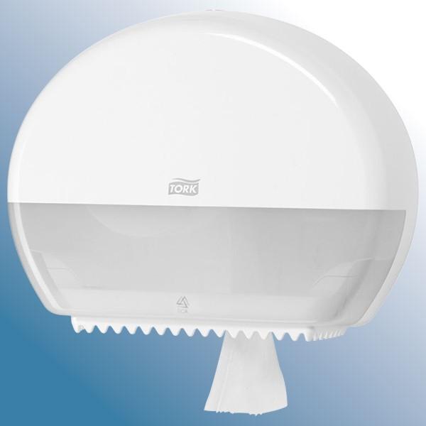 Dispenser , hvid til store ruller toiletpapir