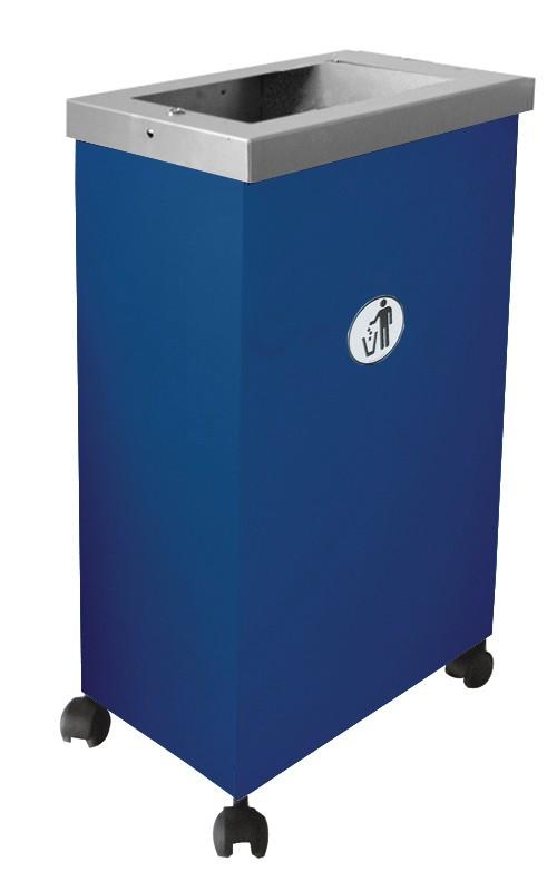 Affaldsbeholder model blå MORMOR med pynteramme