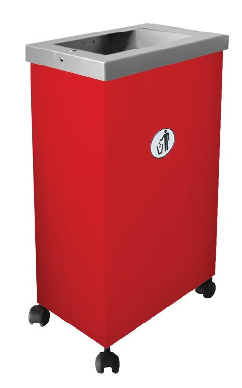 Affaldsbeholder model rød Mormor med pynteramme