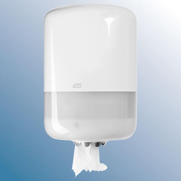 Dispenser, hvid til store håndklæderuller