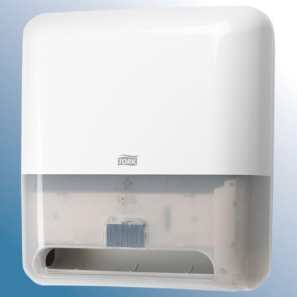 Dispenser med sensor til håndklæderuller, hvid