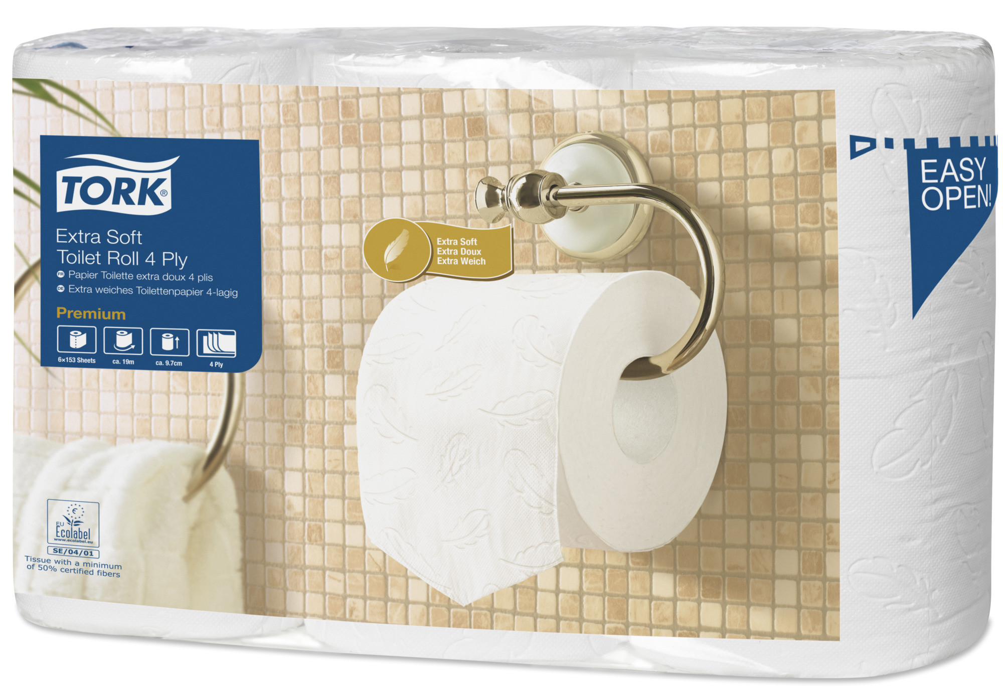 Toiletpapir, alm. 4-lag