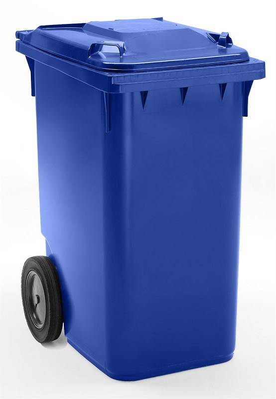 Industribeholder 360 liter, blå